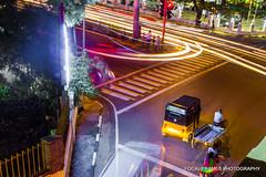 TTK Road Chennai (focalframes) Tags: longexposure still nightscape nightlife chennai mycity lighttrail mychennai focalframes