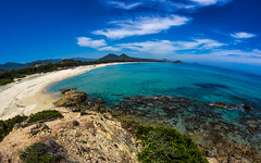 Sardinia (thethomsn) Tags: ocean blue sea vacation sky italy cloud holiday seascape beach nature water landscape bay seaside europe sardinia view fisheye 8mm walimex mediterraneansea 2015 thethomsn