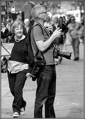 Press (* RICHARD M (5 million views)) Tags: street liverpool mono blackwhite media photographer candid unescoworldheritagesite cameras press scousers albertdock professionalphotographer tog merseyside capitalofculture liverpoolecho europeancapitalofculture liverpudlians pressphotographer newspaperphotographer photobombing photobomber photobombed unescocityofmusic unescomaritimemercantilecity steamonthedock