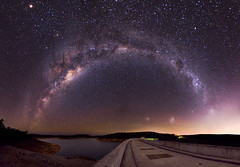 Milky Way and Mars above Canning Dam, Western Australia (inefekt69) Tags: longexposure nightphotography sky panorama mars ice water night rural way stars ancient nikon outdoor dam mosaic space australia reservoir explore southern galaxy astrophotography microsoft planet astronomy 12mm dslr milky stitched cosmos westernaustralia core canning opposition cosmology milkyway southernhemisphere explored largemagellaniccloud magellanicclouds greatrift d5100