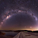 Milky Way and Mars above Canning Dam, Western Australia