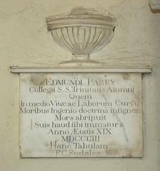 Edmund Parry, died age 19, 1803 (Simon_K) Tags: cambridge church university churches colleges stmichael cambridgeshire eastanglia cambs michaelhouse churchess