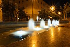 Kecskemt (rozsaphotography) Tags: park street camera city light urban fountain lamp night photo flickr hungary picture utca este nikkor kecskemt magyarorszg fny vros t longexpo lmpa jszaka szkkt mirrorless nikon1j5