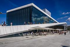 Oslo - Opera House (dietmar-schwanitz) Tags: blue sky building oslo norway architecture skandinavien norwegen himmel bluesky architektur blau operahouse scandinavia gebude blauerhimmel oper lightroom opernhaus operahuset dietmarschwanitz nikond750 nikonafsnikkor24120mmf40ged