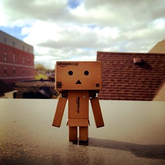 "14/52: ""Take Your Danbo To Work"" Day (aebphoto) Tags: cute downtown annarbor frommyphone week14 iphone 1452 weeklyphoto project52 danboard week1452 revoltechdanbo instagram iphone4s worldofdanbo danbo52"