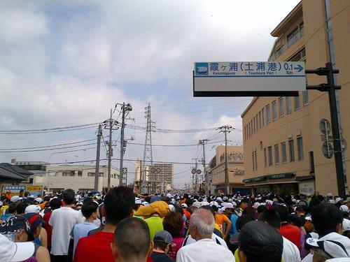 スタート前〜かすみがうらマラソン2012