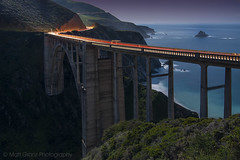 The Bixby Bridge by Moonlight (Matt Granz Photography) Tags: ocean california bridge light night big nikon long exposure pacific trails landmark tokina sur 1224mm bixby d90 mattgranz