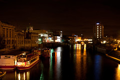 307 - York - River Ouse by Night (Gary Forrest) Tags: york water night reflections river lights nikon time ouse f28 d300 2470mm