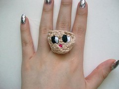 Owl Crochet Ring (Mooy) Tags: cute animal shop handmade crochet jewelry rings kawaii etsy mooeyandfriends