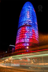 Torre Agbar (arturii!) Tags: barcelona city blue light red motion green tower water colors beauty architecture night speed wow dark amazing nice interesting movement cosmopolitan europa europe exposure neon torre jean superb leed awesome capital drop catalonia architect stunning nocturna novel bullet lovely teardrop impressive aigua bala gettyimages agbar timing greata colorphotoaward arturii