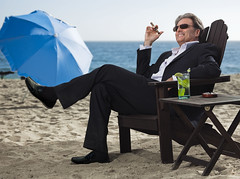 Man relaxing with a cigar (TBTAOTW2011) Tags: man black leather relax smoke cigar smoking mature loafers