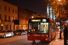 Arriva 3994 on route 286 (John A King) Tags: bus night dark greenwich cuttysark arriva 2994 route286