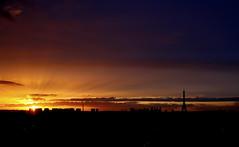 Sunset in Paris (Moe M) Tags: city light sunset sky sun paris france tower skyline clouds europe tour eiffel rays