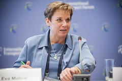 Eva Molnar speaking at the side event