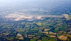 gatwick airport (n.a.) Tags: airport view aerial planes fields terminals gatwick runways