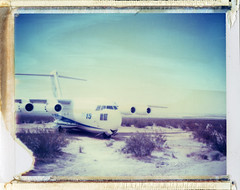 Edwards AFB, CA (moominsean) Tags: california polaroid desert jets entrance planes 190 afb edwardsairforcebase iduv expired022008