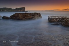 STEP IN, BUT CHOOSE CAREFULLY! (matt burman) Tags: ocean longexposure sunset sea seascape sunrise landscape dawn rocks waves dusk sydney australia nsw mattburman