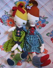 Mod doll friends (whimsyvintage) Tags: mod doll handmade