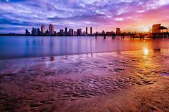 San Diego (boingyman.) Tags: seascape beach colors sunrise canon landscape dock cityscape sandiego stock explore sd getty 1022 gettyimage uwa coronadoisland 10stop t2i bwnd110 boingyman
