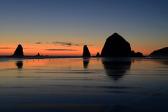 End of the Day at Haystack (MoodyGoat) Tags: sunset oregon reflections clear pacificocean cannonbeach haystackrock flickrsbest naturepoetry