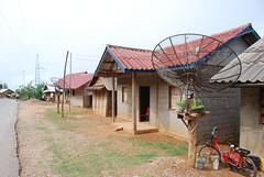 Luang Prabang - Block & Rattan Housing on Road to Phoukoune (Le Monde1) Tags: road mountains river nikon asia housing block southeast laos karst lao rattan mekong luangprabang pdr indochina d60 lemonde1 phoukoune