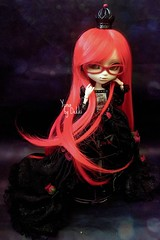 Yuna [ Grell ] (Dekki) Tags: red outfit doll can queen planning groove cancan pullip lunatic jun yuna grell jseries kuroshitsuji rewigeed
