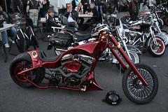Harley Night with Warr's HD (idesignwebsitesnet) Tags: uk england london bike cafe chopper ace harley motorbike custom davidson