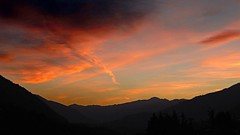 Mountains beyond mountains (PennyMurray) Tags: sunset mountain nature montagne canon twilight tramonto powershot sx130is