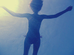 The start of my summer (Robica-) Tags: blue summer sun me water angel nikon underwater waterproof eolie lipari isoleeolie eole nikons30