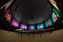 360 of Martin Short (Fisheye Friday #41) (Brendan Meier) Tags: movie epcot fisheye wdw waltdisneyworld ocanada worldshowcase martinshort circlevision360 canont2i brendanmeier canadapivilion