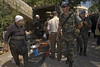 UNIFIL Spanish foot patrol in Khiam