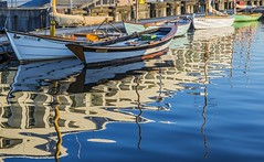 morning line up (Dean Forbes) Tags: seattle reflections boats morninglight lakeunion woodenboats centerforwoodenboats