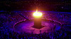 The Olympic Flame at ' The Opening Olympic Ceremony ' Shown on BBC 1 HD London, England