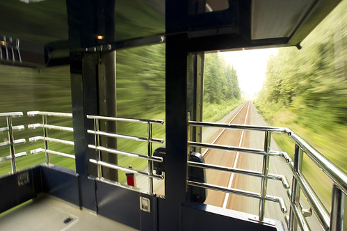 Open viewing platform, The Rocky Mountaineer from The Luxury Train Club