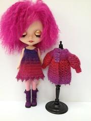 Deep pink and purple set