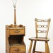 170. Oak Lamp Table and Chair
