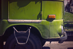 (Khuroshvili Ilya) Tags: 2009 car truck old green minimal composition shadow shadows minimalism streets street fragment concept nvbr nvbr11 canon urban auto vehicle art frontview vintage frontal streetphoto