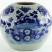 306. Blue & White Oriental Jar