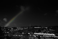 Ray of Hope (chmeermann) Tags: uk england bw blackwhite rainbow nikon unitedkingdom exeter sw nikkor schwarzweiss regenbogen colorkeying selectivecoloring 18135 d80 mygearandme