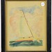 "72. Original Watercolor of the Sailboat ""Rainbow"""