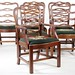 77. Set of 6 Solid Mahogany Ribbon Back Dining Chairs