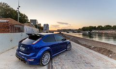 RSunset (Gskill photographie) Tags: sunset paris france ford sport seine canon soleil focus photoshoot coucher wideangle shooting uga tamron rs quai fleuve peniche 1024 sportcar quais gskill 60d