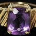 5033. Cushion Shaped Amethyst and Gold Ring