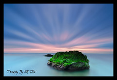 Solitude (Kiall Frost) Tags: ocean longexposure blue red sky seascape green beach water rock sunrise newcastle landscape photography nikon aqua frost photographer south australia le nsw d7000 kiall