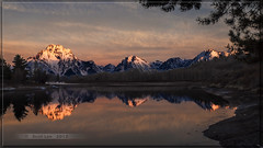Sunrise at Oxbow Bend - Explored (Just Used Pixels (So busy this summer)) Tags: morning usa mountains reflection sunrise river pond olympus calm jackson wyoming tetons jacksonhole e30 oxbow grandtetonnationalpark oxbowbend