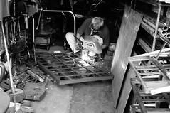 Tradition (rainie_ho) Tags: blackandwhite man hongkong mono welding working chinese streetphotography greyscale rainieho