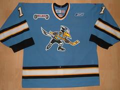 Phoenix Roadrunners 2006 - 2007 road Game Worn Jersey (kirusgamewornjerseys) Tags: hockey worn jersey echl gameworn gamewornjersey