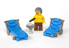Lounger (mijasper) Tags: garden table lego furniture interior patio minifig minifigs liege lounger moc sunlounger loungers sonnenliege idler