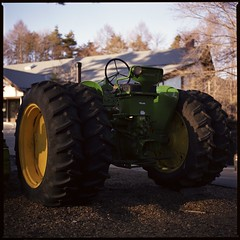 JOHN DEERE  (HASSELBLAD 500C/M) (potopoto53age) Tags: tractor green 6x6 film apple monster rock japan zeiss photoshop mediumformat square restaurant cafe aperture farm hasselblad adobe squareformat carl vehicle 日本 epson fujifilm extended f28 greenmonster reala agricultural johndeere yamanashi planar kiyosato 80mm 500cm hassel 萌木の村 hasselblad500cm appleaperture nont 山梨県 sc5 agriculturalvehicle fujifilmreala 清里 farmingvehicle moeginomura 高根町 epsongtx970 gtx970 potopoto53age betterscanning takanechou adobephotoshopcs5extended dualmffilmholder betterscanningdualmffilmholder carlzeissplanar80mmf28nont 清里ロック