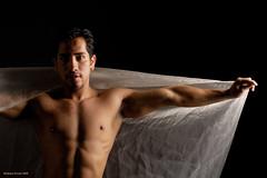 Ahuizotl (naturalturn) Tags: sanfrancisco california shirtless portrait usa white man veil artistic fineart drape sheer ahuizotl image:rating=5 image:id=028674
